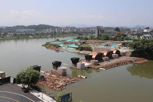 屯溪镇海桥修复工程施工过半
