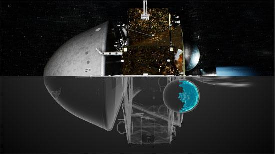 天问一号制动捕获效果图。中国航天科技集团八院供图