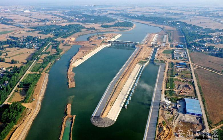 涡河蒙城枢纽工程正式通水
