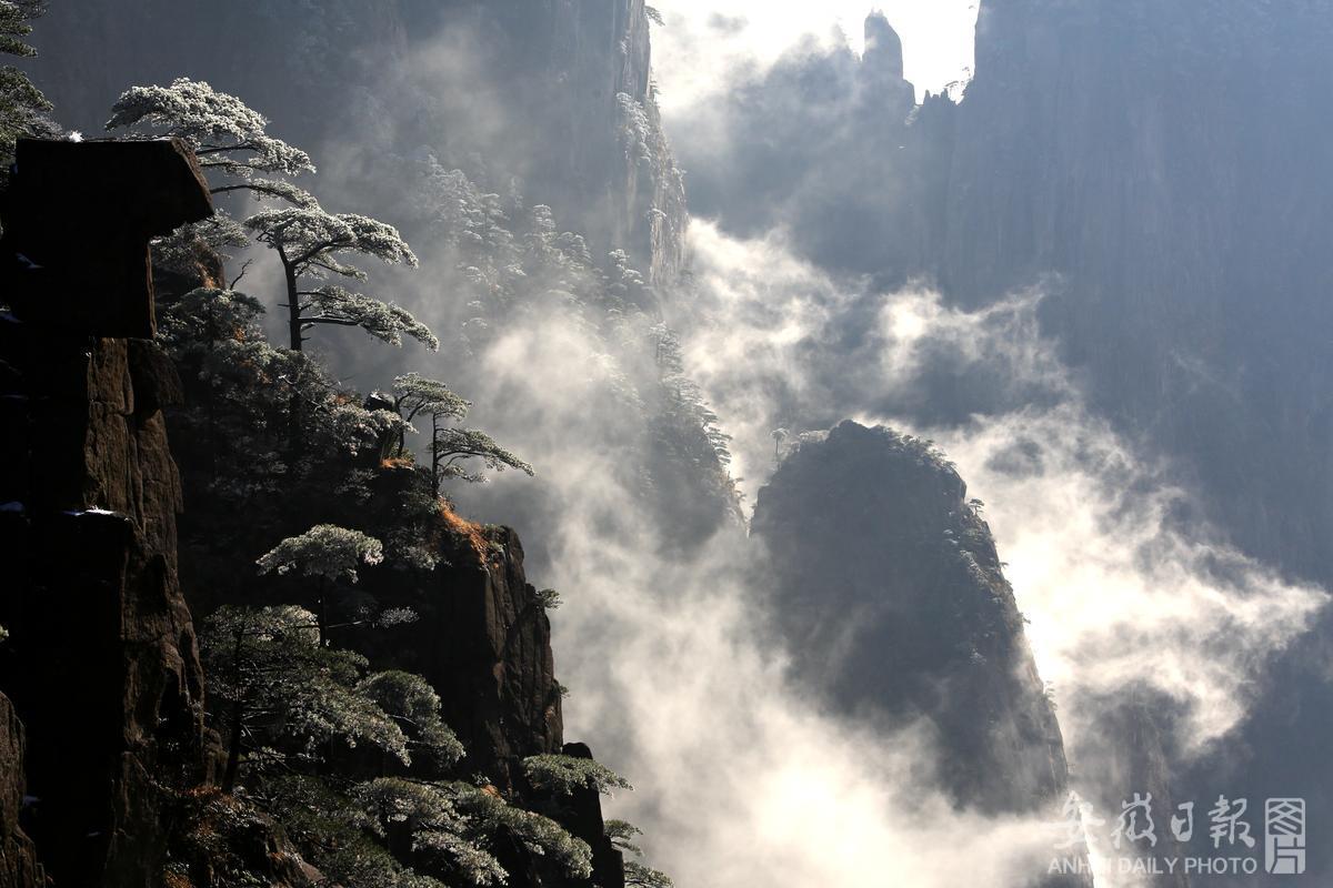 雪后黄山景如画